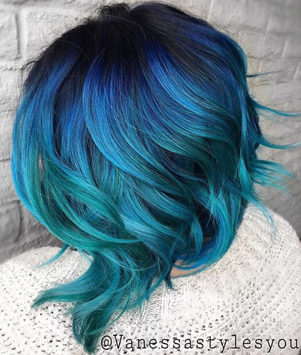 Mermaid Hair Color Ideas For Short Hair