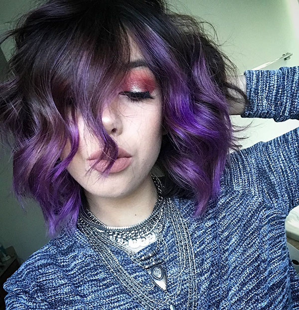 Violet Hair For Short Hair