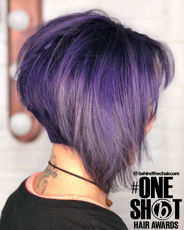 Hairstyles For Short Violet Hair