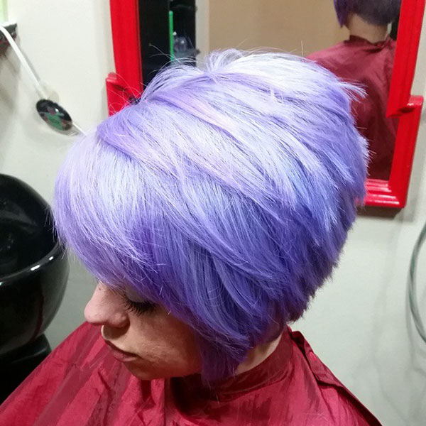 Short Violet Hair Ideas