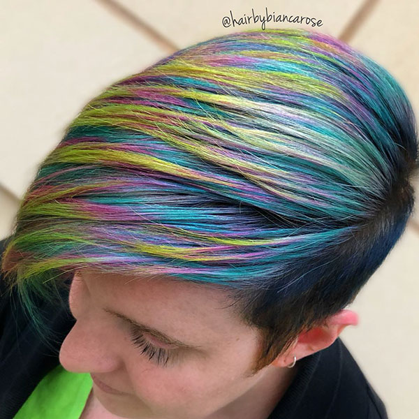 Short Mermaid Hair Color Ideas