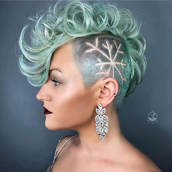 Short Green Hair Ideas