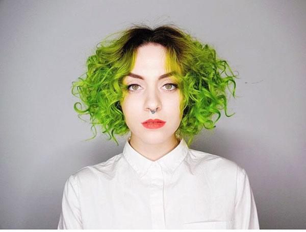 Short Green Hair Images