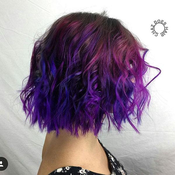 Short Haircuts On Purple Hair