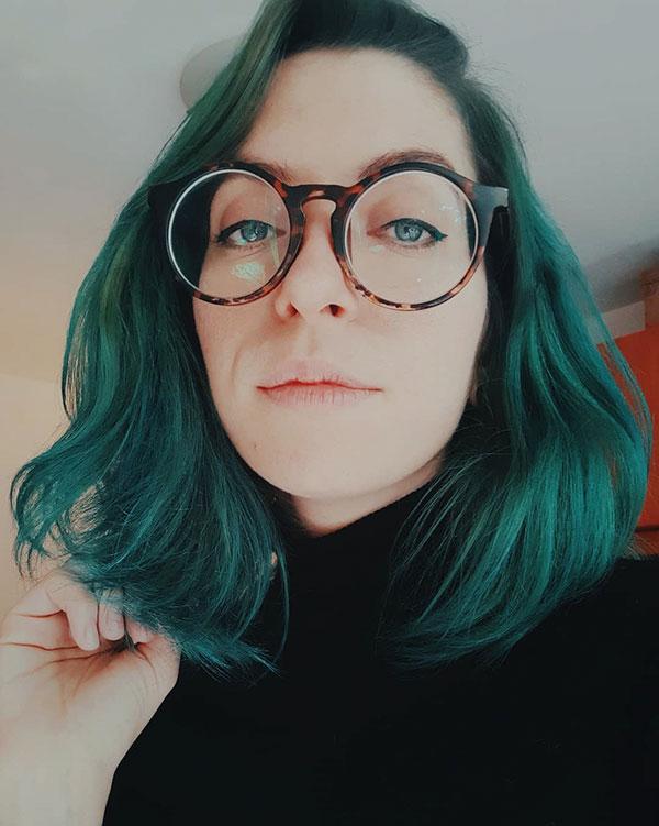 Short And Green Hair