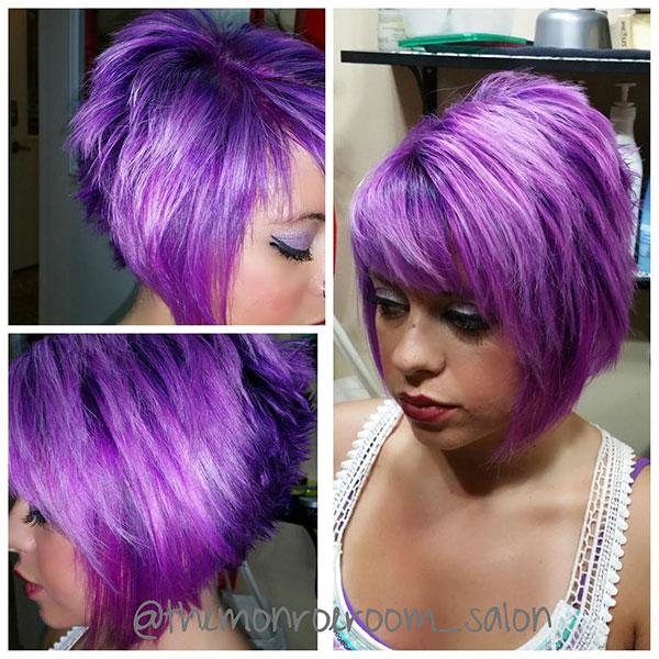 Purple Hair And Short Hair