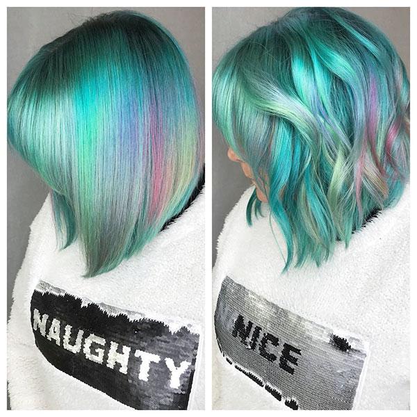 Super Short Green Hair