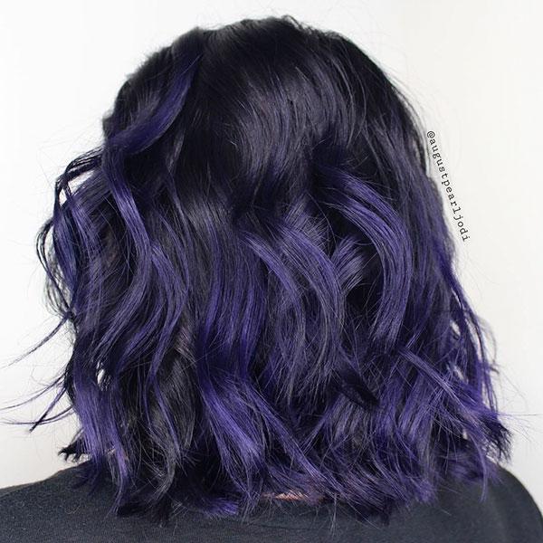 Purple Hair Color For Short Hair