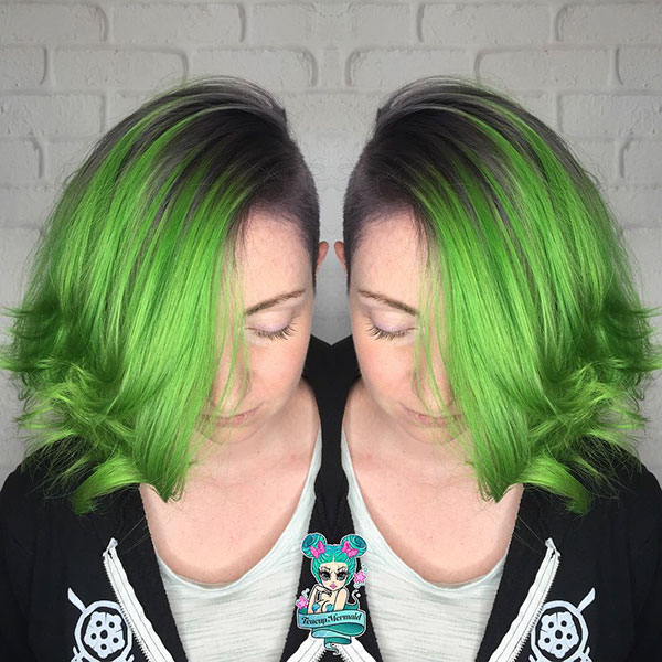 Short Hairstyles For Green Hair