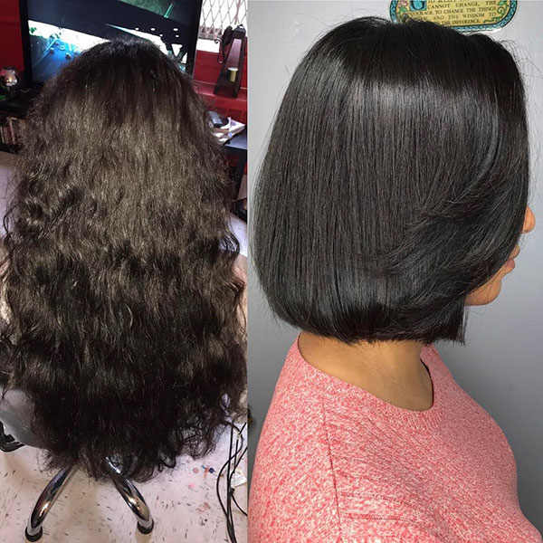 Short Haircuts On Vibrant Hair