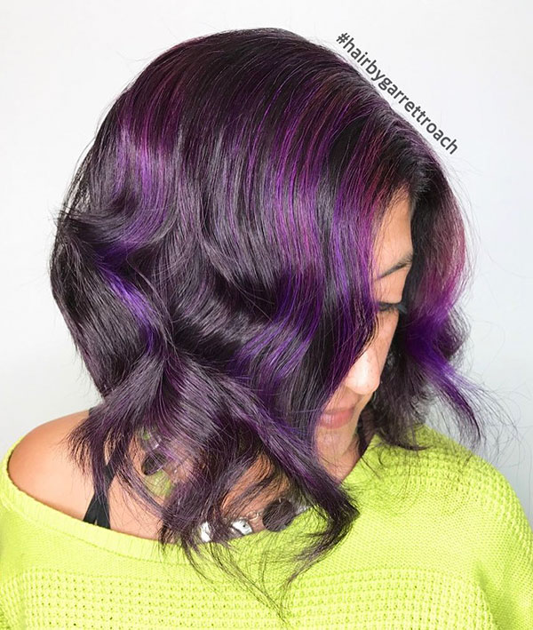 Short Hair With Purple