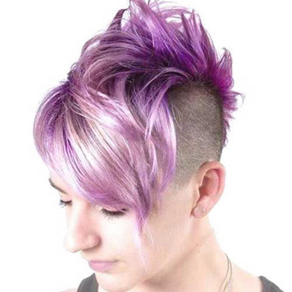 Short Purple Hair Ideas