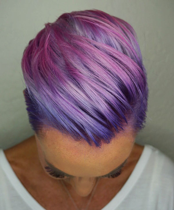 Purple With Short Hair