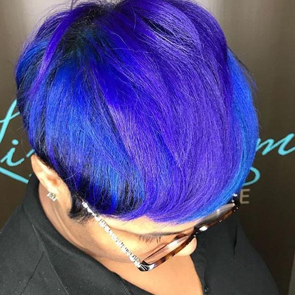 Short Vibrant Hair Color