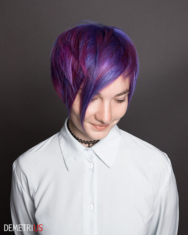 Hairstyles For Short Purple Hair