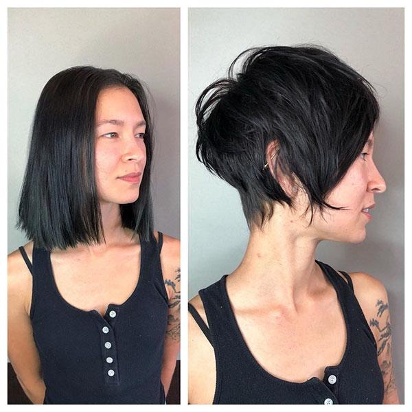 haircut 2021 women's short hair