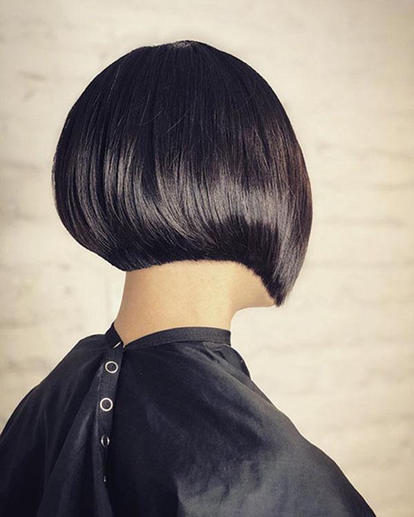 short bob cut hairstyle